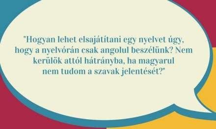 Érthetem az angolt, ha a szavakat nem tudom magyarul?